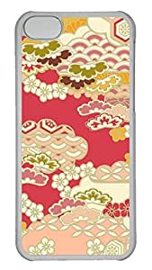 Customized iphone 5C PC Transparent Case - Flower Background 02 Cover
