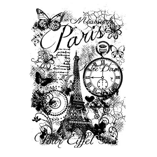 - Clear Singles Acrylic Stamp Paris Collage A6***