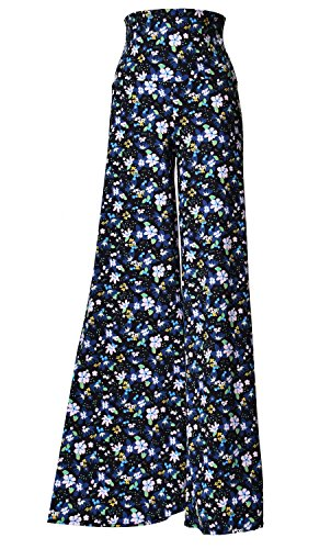 Printed Palazzo Pants (X-Large, - Flowerland Collection