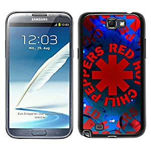 Red Hot Chili Peppers logo 1 Black Unique Abstract Custom Samsung Galaxy Note 2 N7100 Case