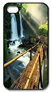 Beautiful waterfall 1 PC For Ipod Touch 5 Case Cover Black New Year gift