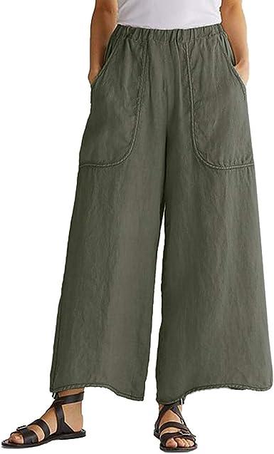 Pantalones Anchos Mujer Verano, LEvifun Pantalones de Mujer de ...