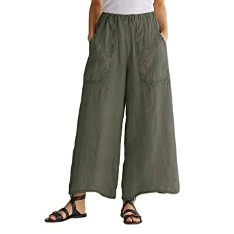 Amlaiworld Pantaloni Donna Sciolto Casuale A Vita Alta Gamba