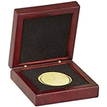 Rosewood Finish Medal / Challenge Coin Wood Presentation Box with Foam insert