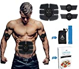 electronic abdominal machine - Callox Abdominal Muscle Toner EMS Body Toning Muscle Training Gear- Portable Lightweight Abs Arm Toning Machine For Everyday Use with FREE eBook and Resistance Band Full Package