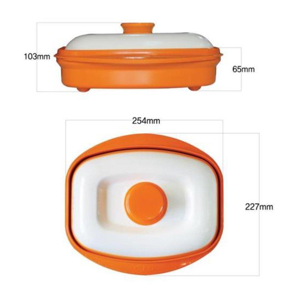 Rangemate Nonstick Microwave Grill Ceramic Coating Pan (Orange)
