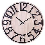 Goshfun Silent Wall Clock, Vintage European Clock Non-Ticking Wall Clock Decorative Clock for Living Room Bedroom Kitchen, 24-inch 60cm