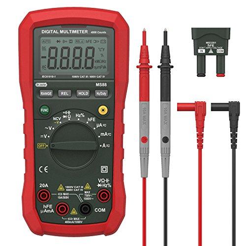 Digital Multimeter Compact (Dr.meter Digital Multimeter Tester Non-Contact Voltage Detection Amp Ohm Volt Multi Meter, Live Line, Temperature Measurement, with LCD Backlit (Standard Multimeter))