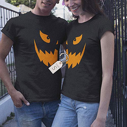Jack O Lantern Pumpkin Couple Halloween Costume Group Matching Customized Handmade T-Shirt Hoodie/Long Sleeve/Tank Top/Sweatshirt