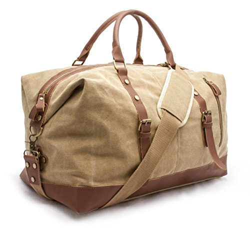 Sweetbriar Vintage Canvas Duffle Bag - Classic Weekender Travel Duffel ()
