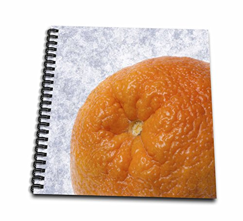 3dRose Alexis Photography - Food Orange - Partial macro view of an orange fruit. Textured background - Memory Book 12 x 12 inch (Food Photographic Memory)