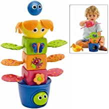 Baby Stacking Toy - Stack Flap 'N Tumble - 5 Stacking Blocks With Fun Sounds