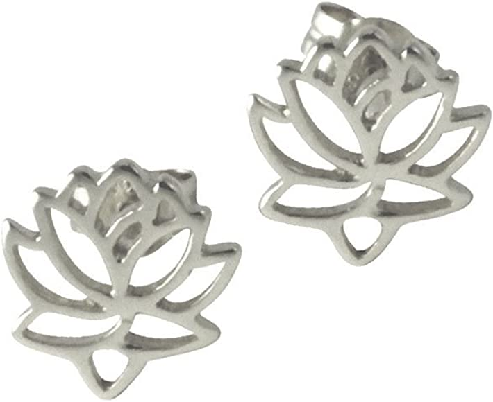 Amazoncom Apop Nycblooming Sterling Silver Flower Lotus Stud