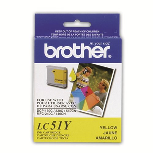 Brother LC51Y Ink Cartridge ( Yellow , 1-Pack )