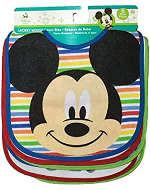 Mickey Mouse Baby Boys 6 Pack Bibs