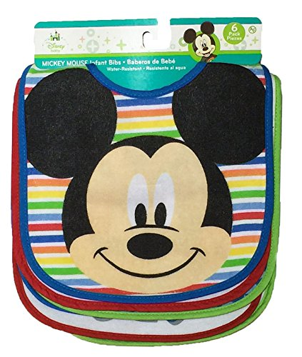 Disney Mickey Mouse Baby Boys 6 Pack Bibs by Disney