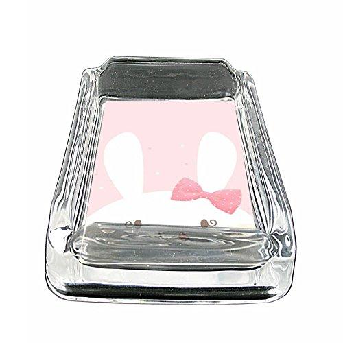 Peeking Bunny Em1 Glass Ashtray Smoking/Coin Holder 4