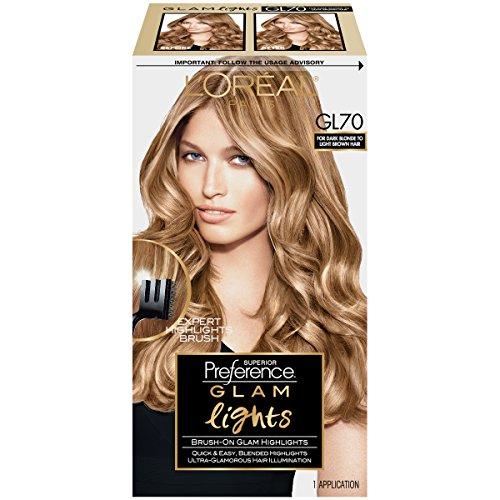 Hair Highlighter (L'Oreal Paris Superior Preference Glam Lights Highlights, GL70 Dark Blonde To Light)