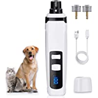 SNMDQZ Dog Nail Grinder Upgraded 2-Speed Rechargeable Dog Nail Trimmers Low Noise Pet Nail Grinder Quiet Electric File…