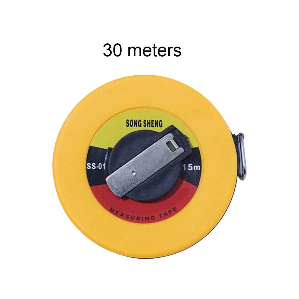 Yanana Fibre de verre Ruban /à mesurer 10m 50m Mesure douce R/ègle de construction Arpentage outil de mesure 30m 20m 15m
