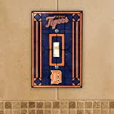 MLB Art Glass Switch Cover MLB Team: Detroit Tigers