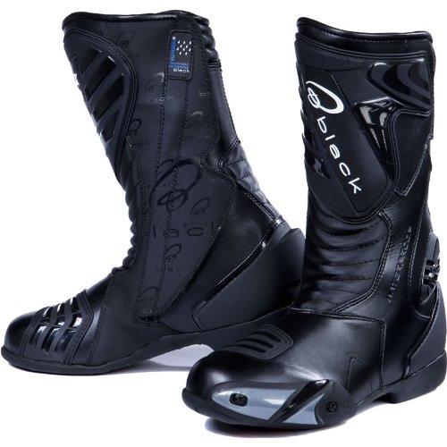 Black Zero - Motorrad-Stiefel - wasserdicht - Sport/Racing - Schwarz - EU43