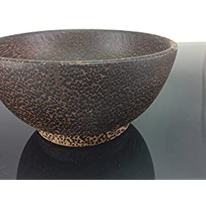 Rice Bowl Soup Bowl 5 Inches Black Wood Handmade Wooden Utensil Palm Wood Soup Rice Serving Bowl Restaurant Round Wooden Handcraft Serving