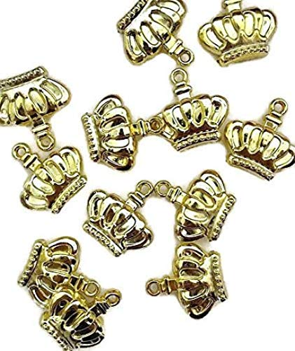 Gold Prince Princess Crown Charms Embellishment Party Favor DIY Projects Scrapbooking Accessories 48 ()