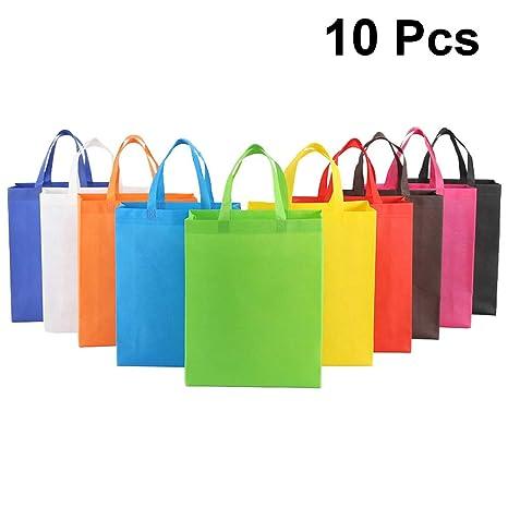 CABILOCK Bolsas de asas reutilizables multicolores de 10 ...