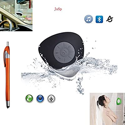 VicTsing Wireless Bluetooth Speaker, Handsfree Portable Speakerphone with Built-in Mic, Control Buttons and Dedicated Removable Suction Cup for Showers, Bathroom, Pool, Boat, Car, Beach, & Outdoor Use Compatible with Apple Iphone 6,6 Plus, 5s, 5, Galaxy S