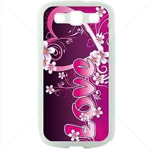 Valentine's Day Gift Sweet Heart Love Samsung Galaxy S3 SIII I9300 TPU Soft Black or White case (White)