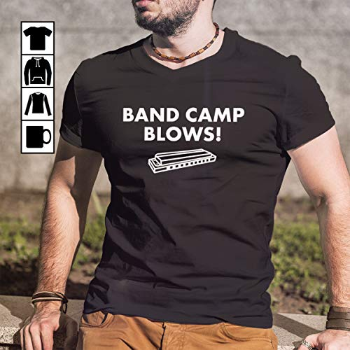 Harmonica Band Camp Blows Funny Harmonica Music T-shirt T Shirt Long Sleeve Sweatshirt Hoodie Youth