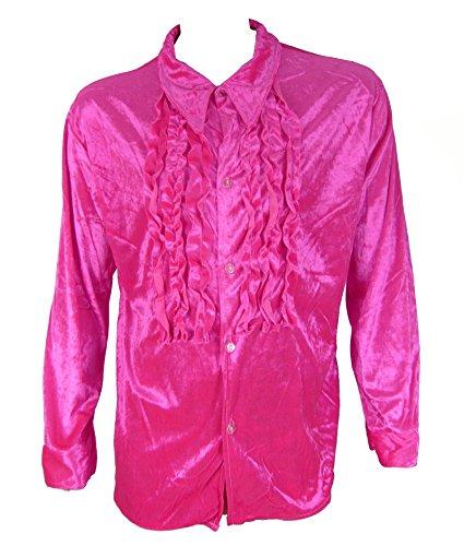 R7678 Pink Ruffled Tux Shirt