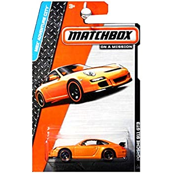 PORSCHE 911 GT3 (ORANGE) * 2014 MBX ADVENTURE CITY * Matchbox 1:64 Scale Basic Die-Cast Vehicle (#1 of 120)