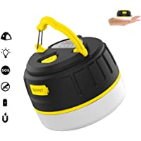 HONGYAN LED Camping Light USB Rechargeable with 5200mah Power Bank Portable Magnetic IP65 Water Resistant Torch 5 Modes 100H Work light Outdoor Emergency Light for Camping Hiking Jogging fishing Hurricanes Outages (Yellow)