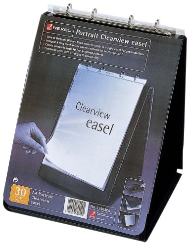 Rexel A4 Portrait Clear View Easel Display Book - Black
