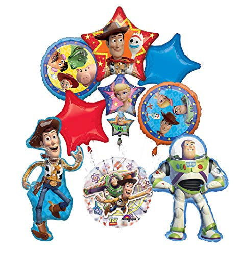 Toy Story Party Supplies Woody, Buzz Lightyear and Friends Birthday Balloon Bouquet Decorations