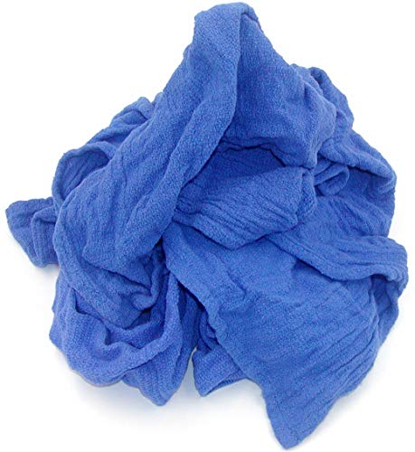 Recycled Blue Surgical Towel Rags - 10 Pound Box - A Perfect Non-Streaking No Lint Towel