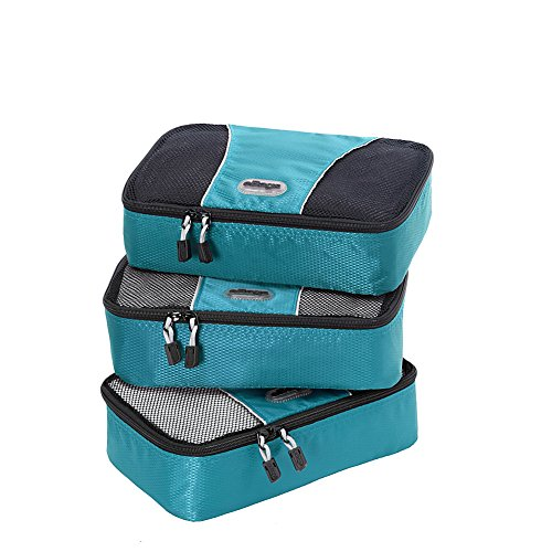 eBags Small Packing Cubes - 3pc Set (Aquamarine) by eBags