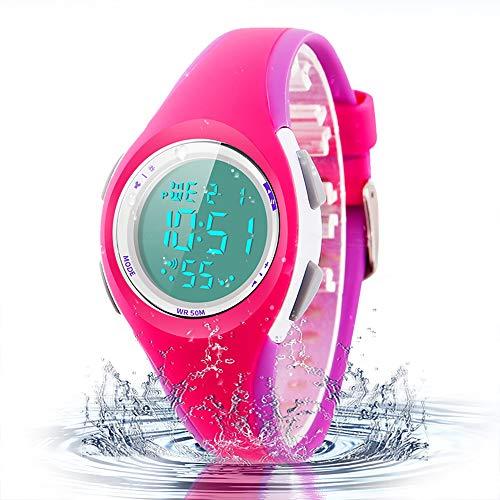(Kid Watch Sport LED Alarm Stopwatch Digital Child Quartz Wristwatch for Boy Girl)