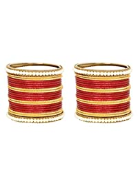 Ratna Traditional 44 pcs Bridal Wedding wear Red Color Bangle Set Women Engagement 44 pcs Bangles