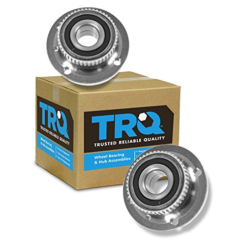 TRQ Front Wheel Hub & Bearing Left & Right Pair Set for BMW 3 Series E30