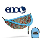 ENO - Eagles Nest Outfitters DoubleNest Print, Portable Hammock for Two, Geo/Orange