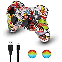 PS3 Controller Wireless Dualshock Joystick - KLNO PS30 Bluetooth Gamepad Sixaxis, Super power, USB Charger, Sixaxis, Dualshock3 including 1 cable For Playstation 3