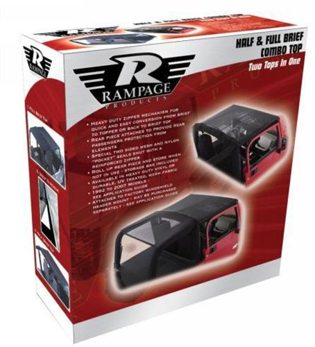 Rampage Briefs (Rampage Jeep 94835 JK Combo Brief Black Diamond Soft Top)