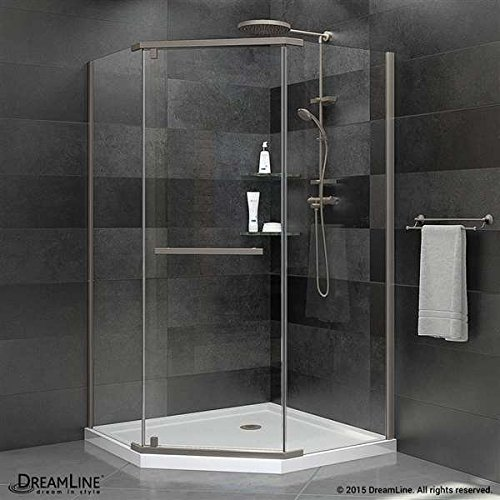 "DreamLine Prism 34 1/8"" x 34 1/8"" Frameless Pivot Shower Enc"