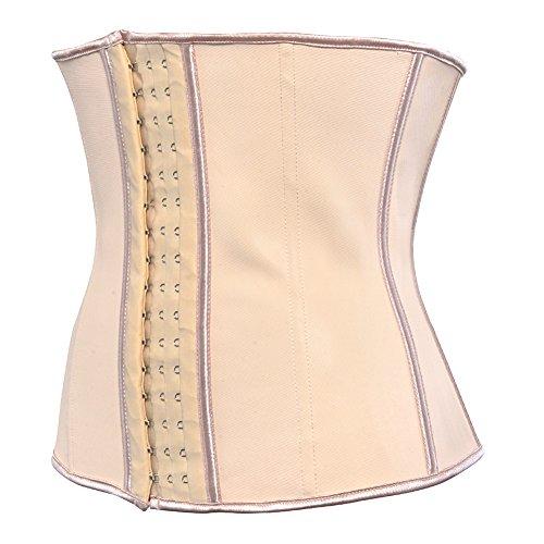 Grebrafan Mujer Fajas Reductoras Faja de Cinturón de Formación para Mujer de la cintura Cincher Underbust Corsés y bustiers Beige