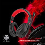LILINA Bluetooth Headset Lightweight, Hi-Fi Stereo Wireless Headset, Foldable Headset, Built-In Microphone And Wired Mode, Esports Gaming Karaoke Headset Desktop Headset With Microphone,Blackred