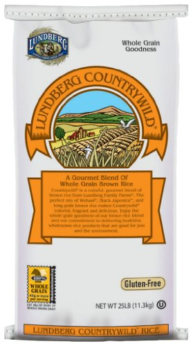 LUNDBERG Gourmet Countrywild Whole Grain Brown Rice, 25-Pound by Lundberg