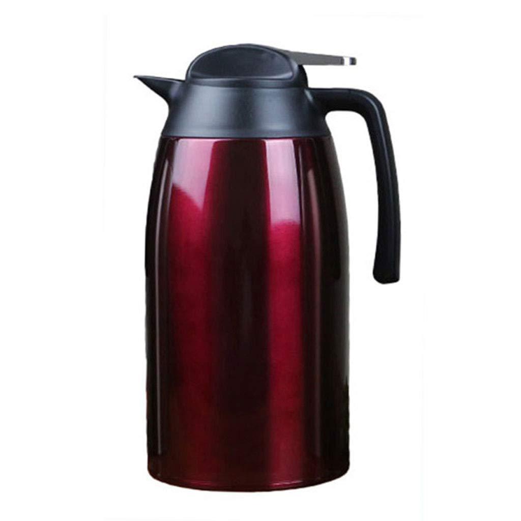 WLHW Trinkflaschen Kaffee Krug Isolierung Topf, 2.1L Edelstahl Doppelwandige Vakuum isoliert Pitcher große Thermoskanne heißen Teekanne